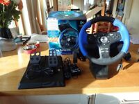 Logitech Driving Force EX Steering Wheel & Pedals