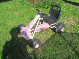 go karts - kettler & orchid girls pink - 3 available
