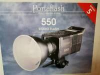 Portaflash 550 series 5 studio flash lights
