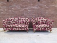 SCS 'Windsor' 2 Seater Sofa And Snuggle Chair Armchair Suite (CAT SCRATCHES)