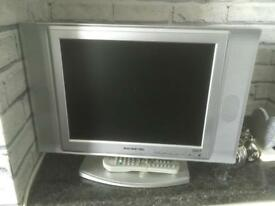 22inch silver TV with remote