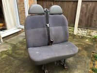 FORD TRANSIT VAN SEATS WITH SEAT BELTS - Crewcab Minibus - QUICK SALE