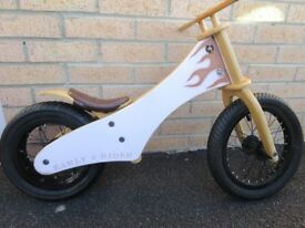 Early Rider Wooden balance bike. Light pink. Suit 2-5 years. VGC. See online reviews.