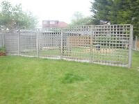 "Free 7 x concrete fence posts 12 ft i think / 6 x 12"" Gravel Boards . Come dismantle and take"