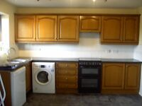 Used kitchen units incl. worktop and stainless steel sink for sale