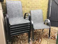 BRAND NEW Ex display 8 Garden chairs