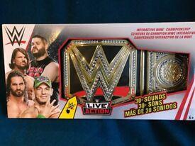 BRAND NEW, BOXED WWE INTERACTIVE CHAMPIONSHIP BELTS