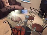 Beautiful Glass Dining Table and Chairs