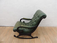 Chesterfield leather rocking chair (Delivery)