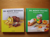 2 NEW Del Monte '30 best loved recipes' books - Peaches & Banana. £3 ovno both/£2 each. Can post.