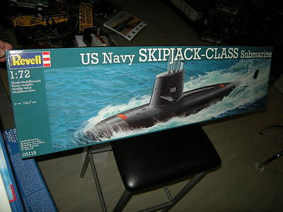1:72 Revell US Navy Submarine Skipjack-Class Nr. 05119 OVP