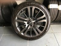 ALLOYS X 4 OF 20 INCH GENUINE RANGEROVER HSE/HSI/FULLY POWDERCOATED IN A STUNNING ANTHRACITE IODINE