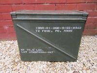 US Army Large Metal Ammo Storage box Motorcycle / Car Tool box