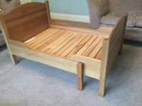Solid Pine Toddler / Child's Extendable Bed No Mattress See for size