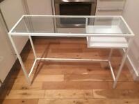 IKEA Laptop table VITTSJÖ White/glass