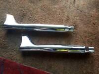 Fishtail silencers