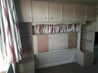 Bedroom furniture including head board, cupboards and drawers