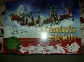 Press out and colour in Santa's Sleigh