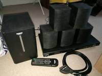 DVD player with 5.1 surround sound