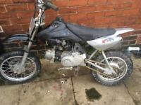 125 Pitbike with clutch