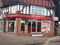 Pizza.Burger Shop for sale. Excellent Location.Lease hold remaining 10 years.Price-£24000