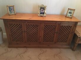 Pine Sideboard and TV Cabinet