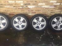 "Audi, vw 17"" alloys and tyres"