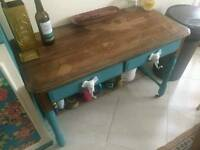 Hand customised table/desk
