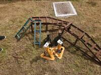 Axle stands and ramp
