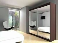 🔵💖🔴Brand NEW🔵💖🔴BERLIN 2&3 SLIDING DOORS WARDROBE IN 5 SIZES & IN MULTI COLORS-CALL NOW
