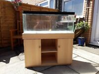 3ft fish tank with stand (hood needs repairing/replacing) £40