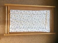 Mothercare pine cot top changer