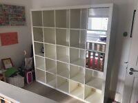 Ikea Expedit, white, 5x5 storage/bookshelf with three mirror cupboard inserts