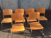 Adult wooden stacking chairs - 10 available at £20 each feel free to view free local delivery