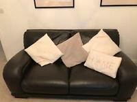 Italian Leather settee's