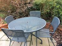 Garden Table and 4 arm chairs