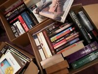 RESERVED 50+ books to good home - to collect today or tomorrow RESERVED