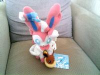 Pokemon Sylveon & Eevee Plush Soft Toy Official