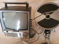 Vintage Sony Transistor 9306UB TV with Parabolic AN55B2 Aerial