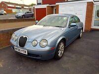 Jaguar S-Type, 2005, Blue, 2.7tdi V6 Diesel, 136k Low Miles, Automatic, Service History, Luxury Car