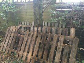 Used Picket fencing in two metre panels