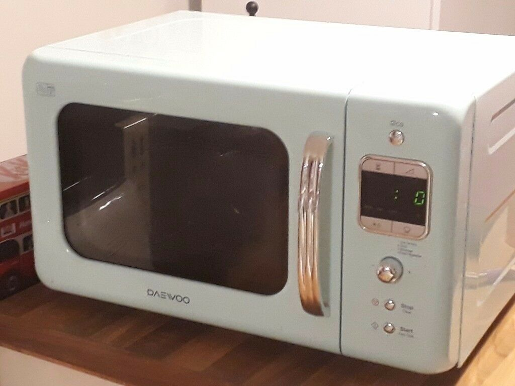 Daewoo retro microwave, 20L, 800w, mint colour, good condition