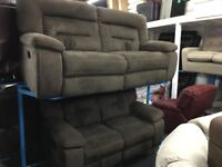 New/Ex Display Harvey's Kinman 3 + 2 Seater Recliner Sofas
