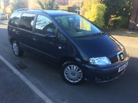 2005*SEAT ALHAMBRA 2.0 PETROL*6 SPEED*7 SEATER*2 OWNERS*CAMBELT CHANGED*FULL SERVICE*6 MONTHS MOT*