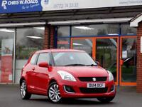 SUZUKI SWIFT 1.2 SZ3 3dr * Full Leather * ** Air Con + Bluetooth ** (red) 2014