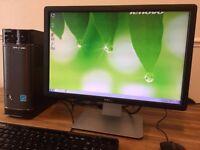Full Set LENOVA 3230 / 8GB Ram / 500GB/ HDMI / USB 3.0 / HD6320 + Dell Monitor Desktop Computer