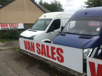 Small, Medium and Large Vans for Sale