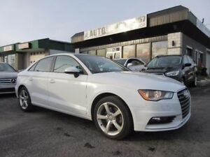 2015 Audi A3 2.0T Progressiv QUATTRO (AWD, Sunroof, Leather)