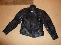Used, J&S Leather Motor Bike Jacket for sale  Norfolk