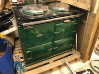 Aga 2 Door - Racing Green - Solid Fuel converted to Oil
